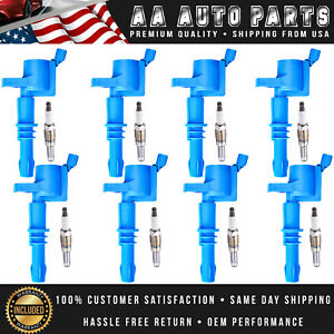 High Performance Ignition Coils 8pcs Spark Plugs For 04 08 Ford F150 F250 Fd508