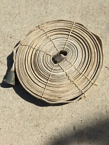 Vintage 100 Foot Cloth Fire Hose S j Tested To 300 Lbs 1 1 2 Wide