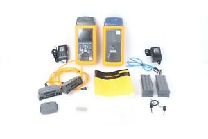 Fluke Dsp 4000 Cable Analyzer And Dsp 4000sr Smart Remote W Case Accessories