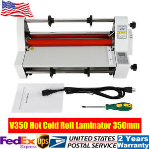 13 350mm Hot Cold Roll Laminator Digital Laminating Machine Single Dual Sided