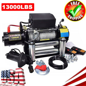 13000lbs 5900kgs 12v Electric 4wd Winch Kit W Wireless Remote Durable Best