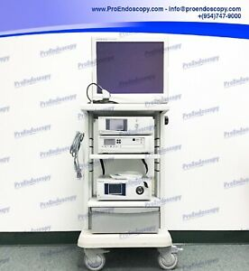 Stryker 1288 Hd Ent Tower Set With Camera Sdc L9000 Light Source Monitor