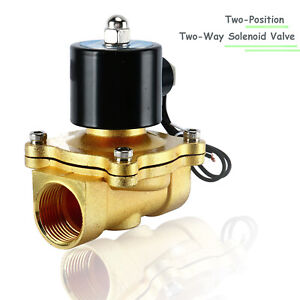 1 Electric Solenoid Valve Brass 110vac Normally Closed Npt Water Oil Air Gas