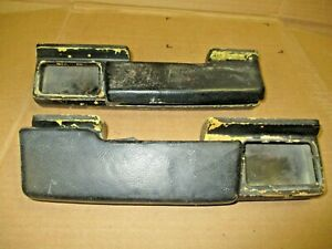 1965 67 Chevy Ii Nova Rear Arm Rest Bases And Pads Pair Lh Rh