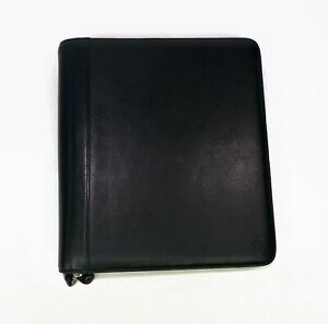 Franklin Covey Monarch Legacy Nappa Full Zip 1 Black Binder