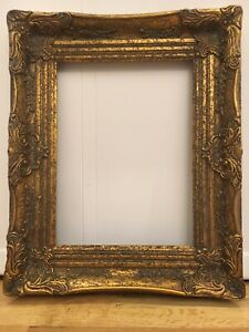 Antique Reproduction Gold Gilt Vintage Picture Frame Opening 12 X16
