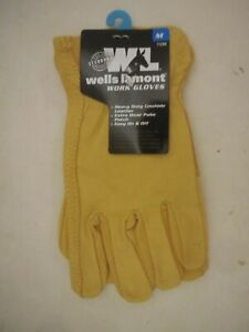 Lot Of 3 Wells Lamont Premium Cowhide Leather Work Gloves M L Xl