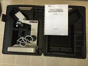 Nikon Alphaphot Ys Biological Microscope 4x 10 40x Objectives Case Discount