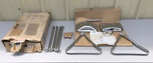 Nos 1973 74 75 76 77 78 79 80 87 Chevy Gmc Truck Mirrors Pair Stainless Camper