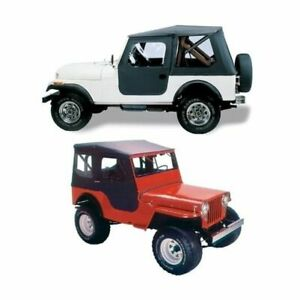 Bestop 51402 01 Tigertop Soft Top Black For 1946 1949 Jeep Willys New