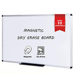 Magnetic Whiteboard dry Erase Board 48 X 36 Inches Silver Aluminium Frame New