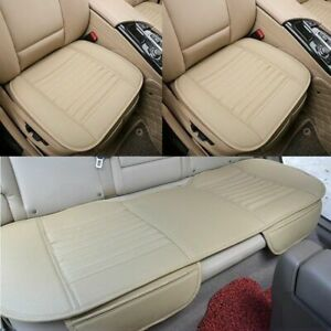 Car Seat Cover Front Rear Back Seat Breathable Leather For Auto Chair Cushion