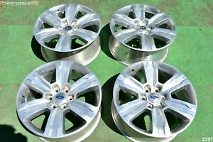 20 Ford F150 Oem Factory Platinum Polished Wheels Expedition