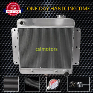 For Chevrolet 1962 1967 63 64 65 66 Nova 3 2l 3rows Aluminum Radiator at