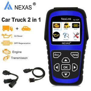 Heavy Truck Diesel Diagnostic Tool Obd2 Scanner Dpf Oil Rest Engine Nl102 Plus