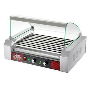 Commercial 24 hot Dog Indoor Grill 290 Sq In Rotisserie style Stainless Steel