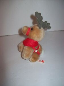 McDonalds Plush Reindeer Coca Cola Xmas Tree Ornament 1985 Santa Clause Movie