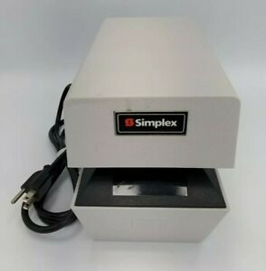 Simplex 1307 9001 Time Date Stamp 1307 Time Clock With Key