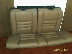 1994 2004 Oem Ford Mustang Coupe Cobra Gt Svo Saddle Tan Leather Rear Seat