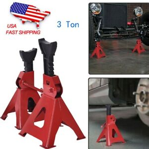 2pc 3 Ton Vehicle Support Car Jack Stands 17in High Lift Garage Auto Tool Set Us