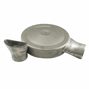 Spectre 98625 Air Cleaner Dropped Base Dual Inlets Natural Aluminum