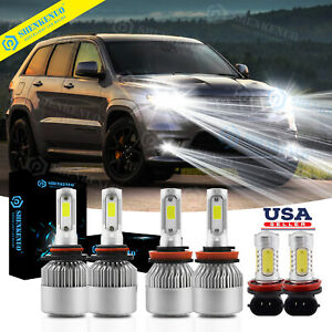 Fit For Jeep Grand Cherokee 2014 17 Combo 6000k Led Headlights Hi lo Fog 6xbulbs