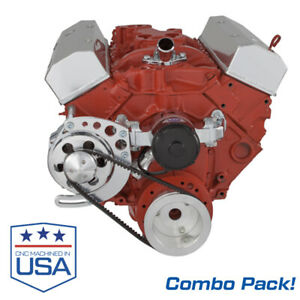 Small Block Chevy Electric Water Pump With V Belt Alternator Bracket Sbc 350 Ewp