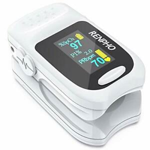 Renpho Accurate Reading Pediatric Pulse Oximeter Fingertip Monitor With Alarm