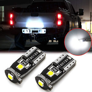 Led License Plate Light Bulbs Canbus White 168 194 2825 For Chevy Silverado 1500