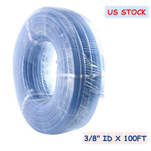 High Pressure Clear Pvc Braid Reinforced Flexible Vinyl Tube Water Hose 100ft