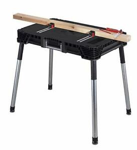 Keter Jobmade Portable Work Bench And Miter Saw Table For Woodworking Tools