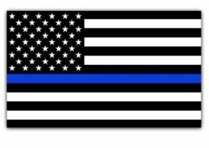 Blue Lives Matter Police Usa American Thin Line Flag Car Decal Sticker 3 X 1 8