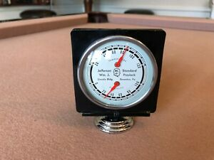 Antique Advertising Thermometer Humidity Gauge 1930s 1940s Accessory Chevy Ford