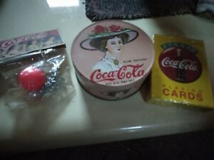 Coca cola collectables lot of 3.  Ball w/jack's  3.5