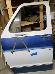 Driver Left Door 88 Ford 1988 Econoline Van 75 91 Used Complete With Glass