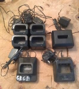 Lot Of 7 Radio Chargers Motorola Maxon Tekk Used Untested