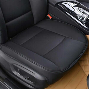 Pu Leather Car Interior Seat Cover Protector Cushion Front Cover Universal Black