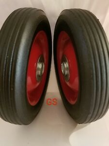 2pc 6 Replacement Solid Hard Rubber Tire Wheel Or Dolly Hand Cart Lawn Mower