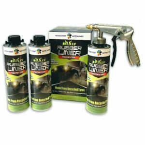 Bullyliner Rubber Bed Liner Kit 4 1 Litre Bottles Spray Gun 1 Gallon