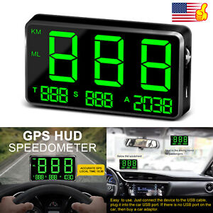 Universal Digital Car Gps Mph km h Hud Display Speedometer For Bike Motorcycle