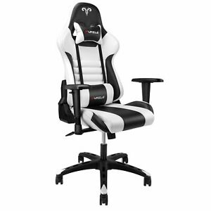 Furgle Gaming Chair Office Executive Chair Pu Leather Racing Recliner Seat Usa