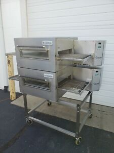 Lincoln Impinger 1116 Double Deck Gas Conveyor Pizza Ovens belt Width 18