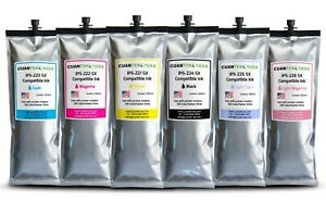 6 X 500ml E 64s Oki Colorpinter Compatible Oki Ip5 Sx Ink Bags Made In Usa