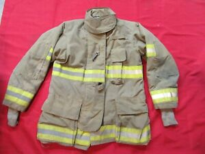 Quaker Drd Gear Bunker Jacket Coat 40 X 32 Firefighter Turnout Fdny Fire Towing