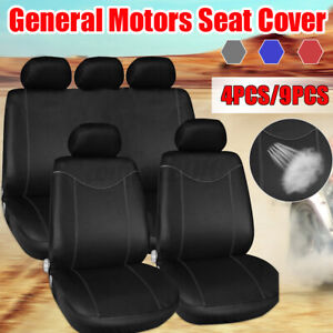 4 9pcs Car Seat Cover Universal Protection Pillow Front And Rear Seat Covers