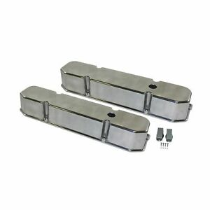 Big Block Mopar 361 383 400 413 426 440 Tall Polish Aluminum Valve Cover Set