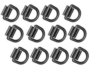 12x 1 2 D Rings Weld on Flatbed Truck Trailer Ratchet Strap Cargo Tie Down