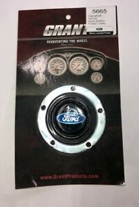 Grant 5665 Signature Horn Button Ford Oval Logo 5 Bolt Mounting Pattern