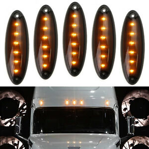 Oe Spec Amber Led Raised Roof Clearance Marker Lights For Freightliner Cascadia
