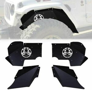 Etosha Front Inner Fender Liners Black Steel For 2007 2018 Jeep Jk Jku Wrangler